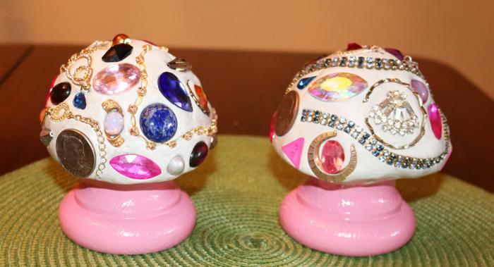 Two Pink Mushrooms