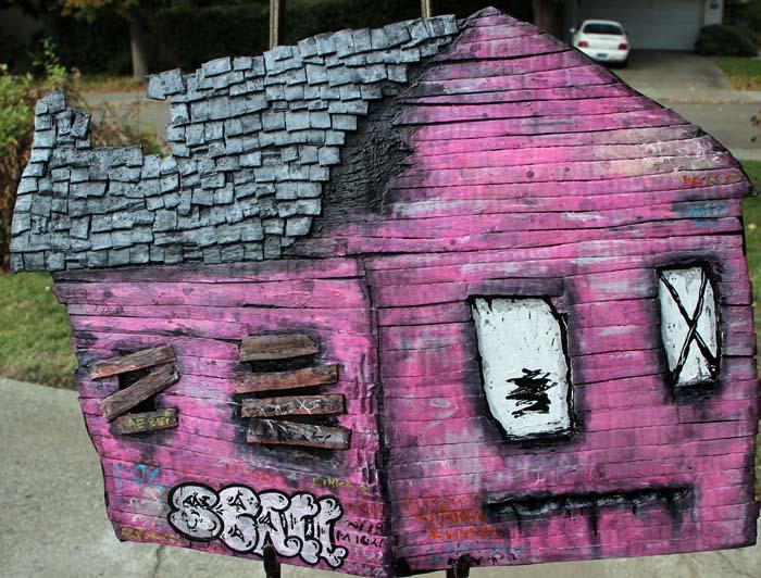 Large Sad House-Magenta