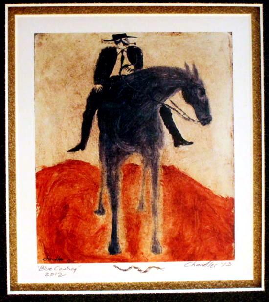 Blue Cowboy signed print
